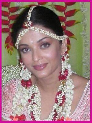 Aishwarya Rai flower jewellery