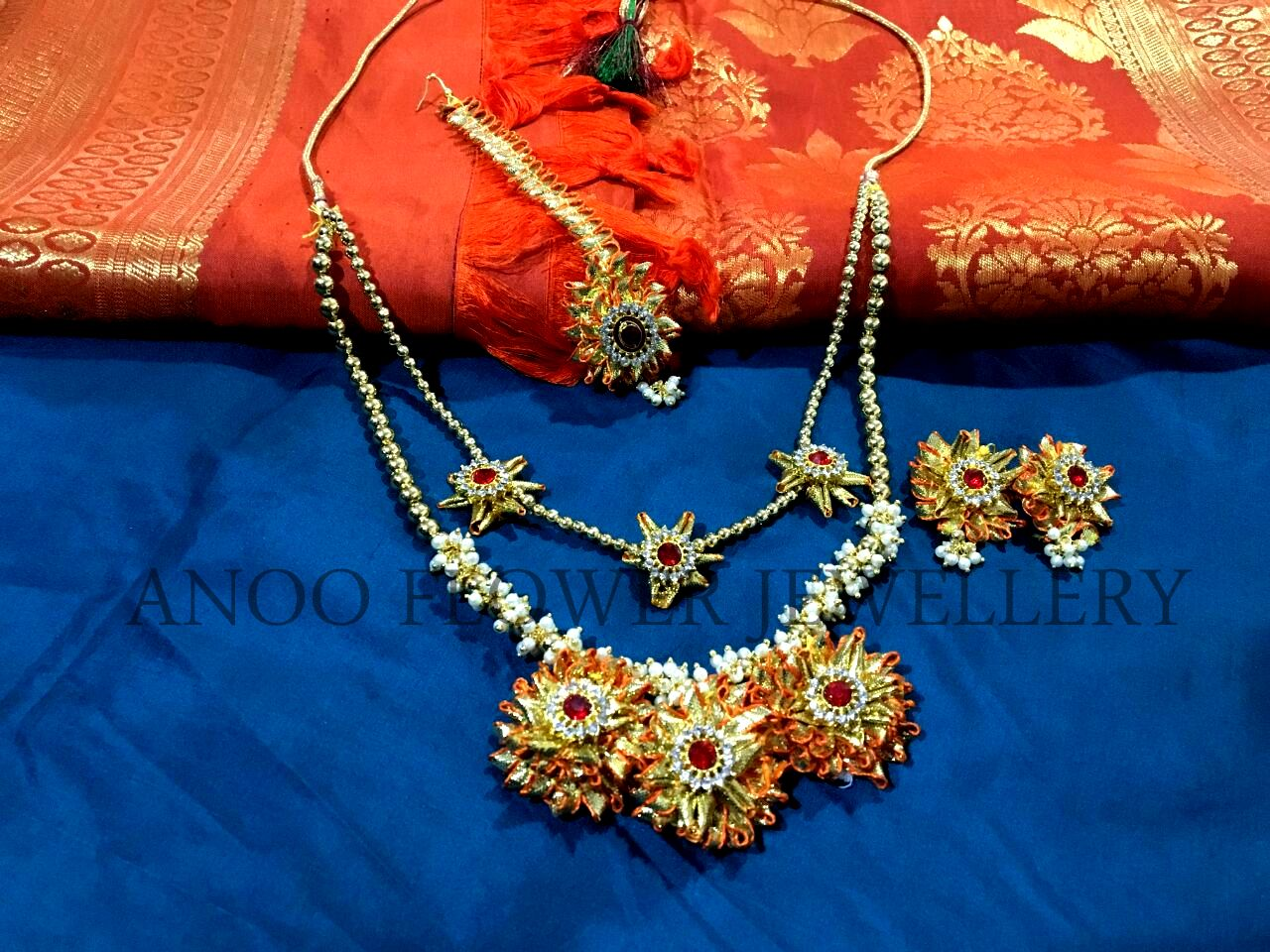 shop online artificial gota flower anoo afj jewellery jewelry order