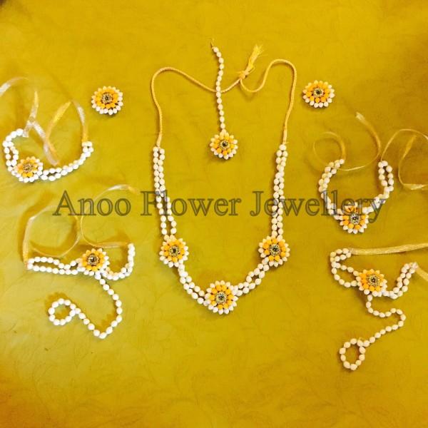 Teej flower jewellery