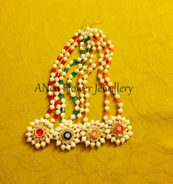 Order Artificial flower jewellery Online from Anoo flower jewellery